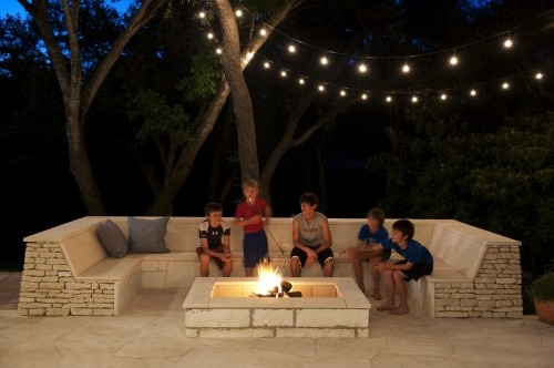 Outdoor Firepit And Seating Area Architectural